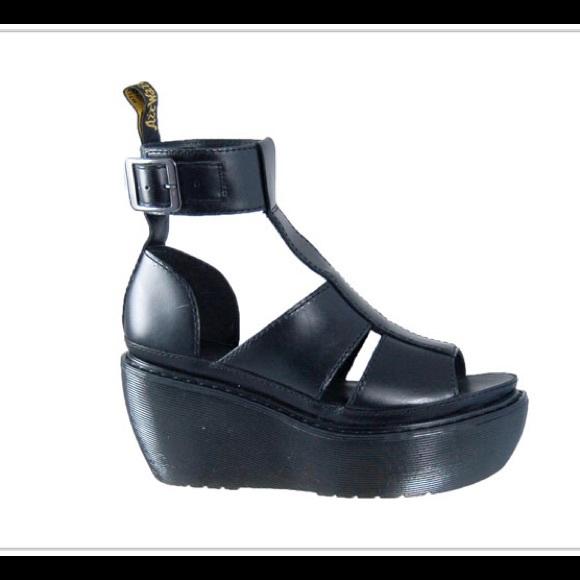 Doc Martens Bessie Ankle Strap Black Platforms